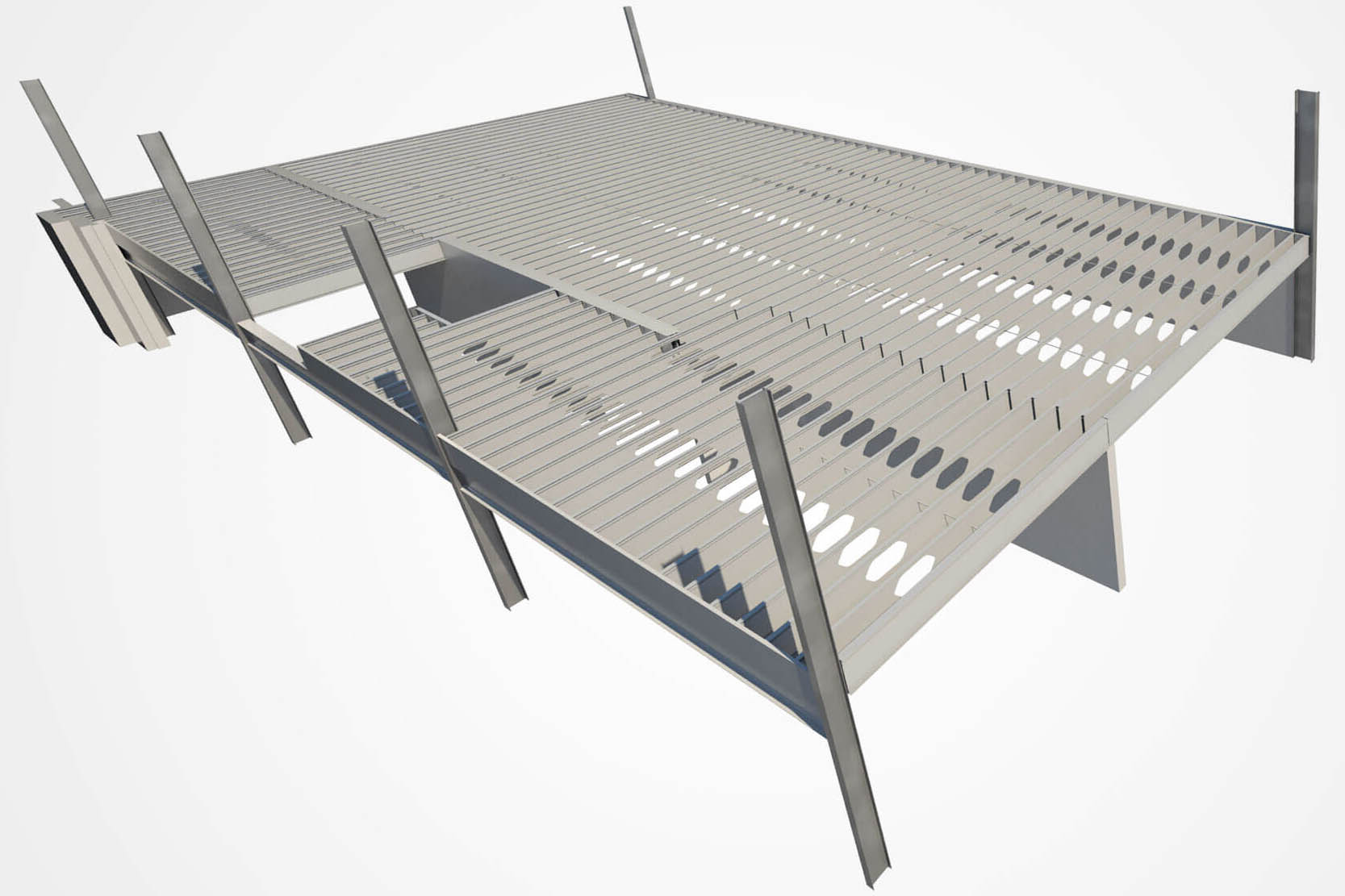 Lightweight Mezzanines Using Cold Formed Steel Ispan Systems