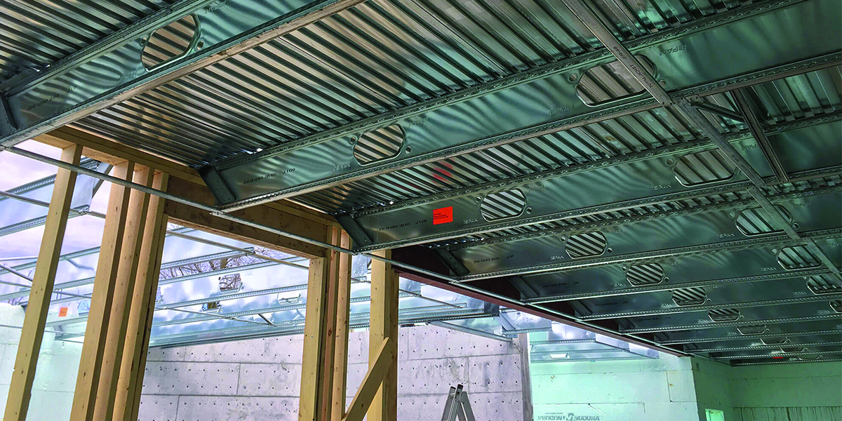Building a 'Powerhouse' with ICF and Cold-Formed Steel- Insulated Concrete Forms and a Concrete Flooring System - iSPAN System- 1