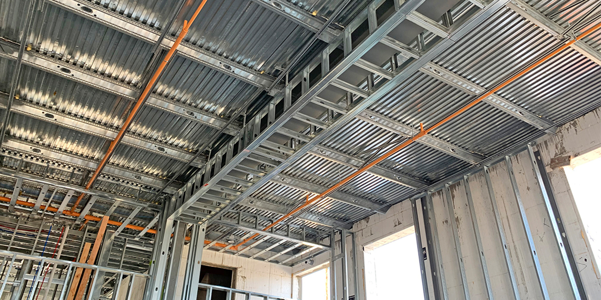 Building a 'Powerhouse' with ICF and Cold-Formed Steel- Insulated Concrete Forms and a Concrete Flooring System - iSPAN System- 2